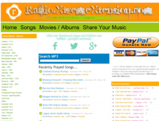 radio.xtremextension.com screenshot