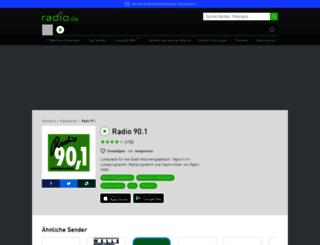 radio901.radio.de screenshot