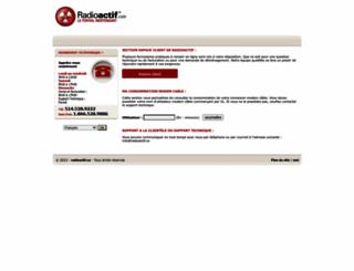 radioactif.ca screenshot