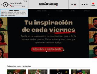 radioambulante.org screenshot