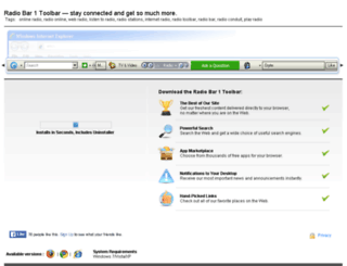 radiobar1toolbar.toolbar.fm screenshot