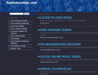 radiobendele.com screenshot