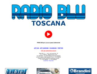 radioblutoscana.it screenshot