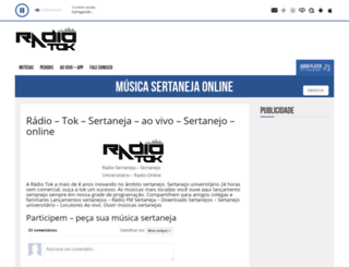 radiobrasilsertaneja.com screenshot