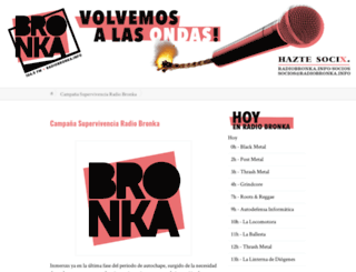 radiobronka.info screenshot