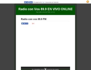 radioconvos899.com.ar screenshot