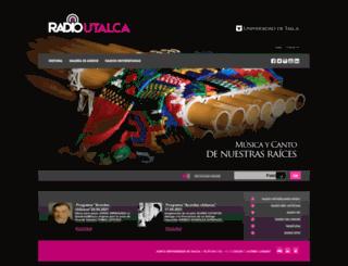 radioemisoras.utalca.cl screenshot