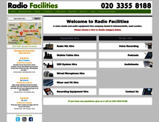 radiofacilities.com screenshot