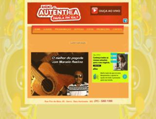radiofavelafm.com.br screenshot