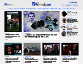 radioformula.com.mx screenshot