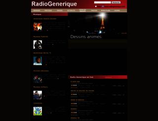 radiogenerique.com screenshot