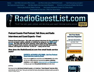radioguestlist.com screenshot