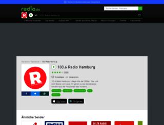 radiohamburg.radio.de screenshot