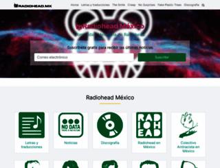 radiohead.mx screenshot