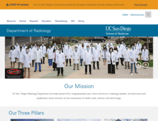 radiology.ucsd.edu screenshot