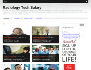 radiologytechsalary.org screenshot