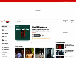 radiomirchi.com screenshot
