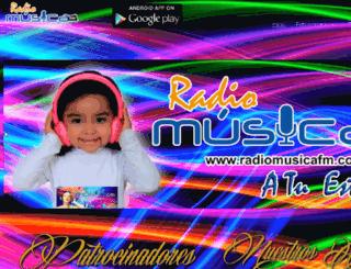 radiomusicafm.com screenshot