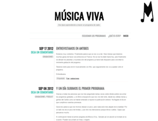 radiomusicaviva.wordpress.com screenshot