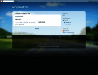 radionordpol.blogspot.com screenshot