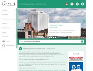 radioonkologie.charite.de screenshot