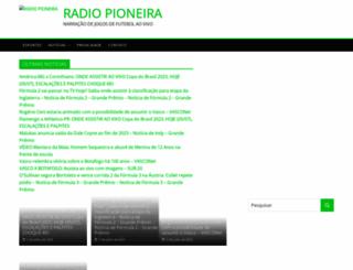 radiopioneira.com.br screenshot