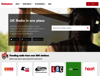 radioplayer.co.uk screenshot