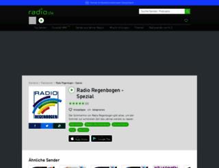 radioregenbogenseason.radio.de screenshot