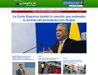 radiosantafe.com screenshot