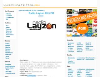 radiosonlineperu.com screenshot