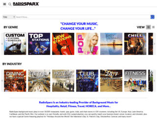 radiosparx.com screenshot