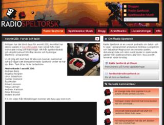 radiospeltorsk.se screenshot