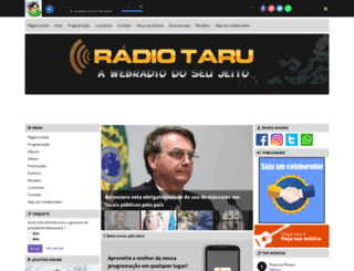 radiotaru.com.br screenshot