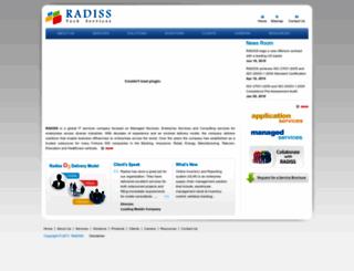 radiss.com screenshot