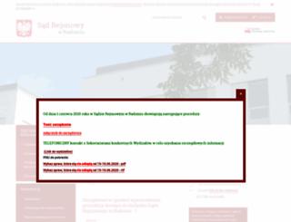 radom.sr.gov.pl screenshot