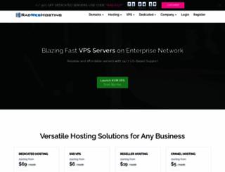 radwebhosting.com screenshot