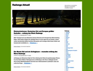 radwege-aktuell.de screenshot