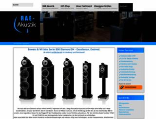 rae-akustik.de screenshot
