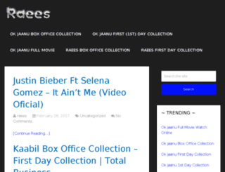raees-boxofficecollection.com screenshot
