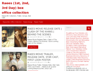 raeesboxofficecollections.co.in screenshot