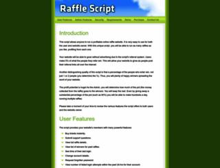 rafflescript.com screenshot