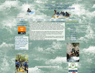 rafting-canyoning-pyrenees.com screenshot