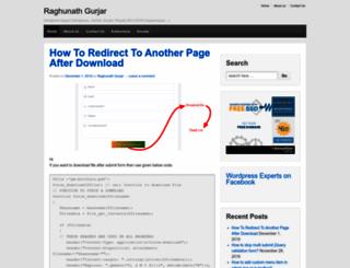 raghunathgurjar.wordpress.com screenshot