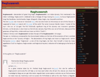 raghuwansh.com screenshot