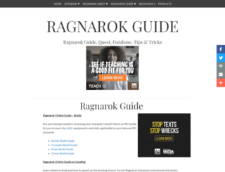 ragnarok-guide.com screenshot