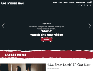 ragnbonemanmusic.com screenshot