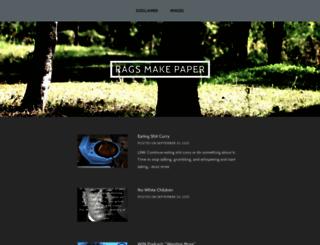 ragsmakepaper.wordpress.com screenshot