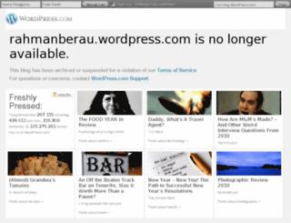 rahmanberau.wordpress.com screenshot