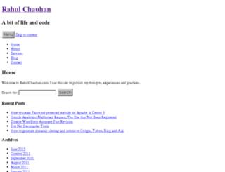 rahulchauhan.com screenshot