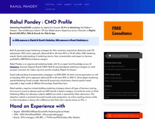 rahulpandey.in screenshot